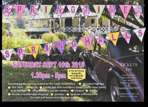 Sringtime at Springhalls Saturday 10th September 2016