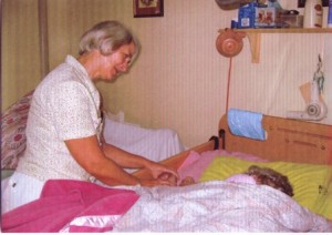 Bronwyn with patient